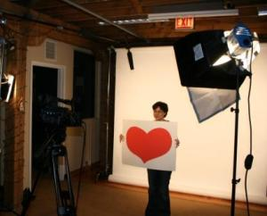 "Nicole shows some ""heart"" during filming."