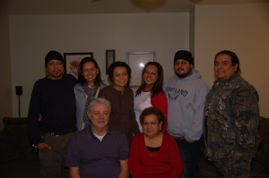 Javier and his family celebrating Thanksgiving in 2009