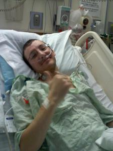 Jason shortly after his transplant.