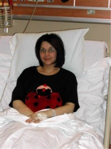 Kasci after her kidney donation.