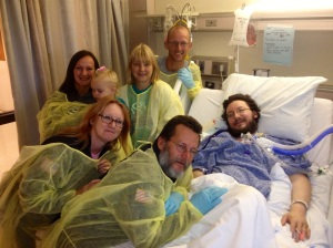 Jason and his family as the prep for his lung transplant.