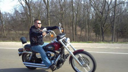 Shawn Miller on his bike.
